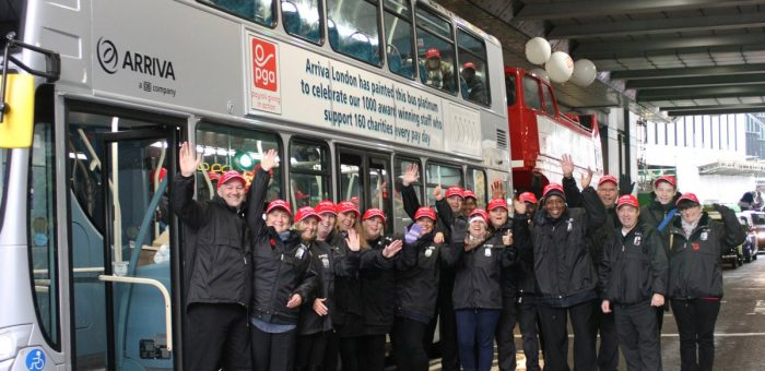 Over £1M donated by Arriva London staff